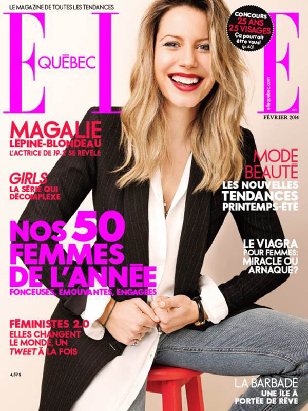 elle quebec feb 2014 cover cynthia judyink magazine